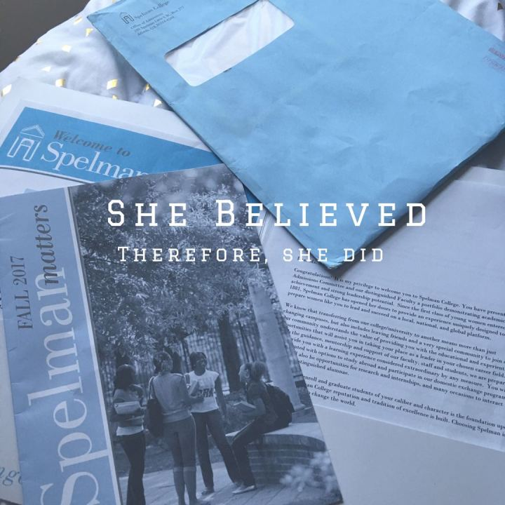 She Believed Therefore She Did