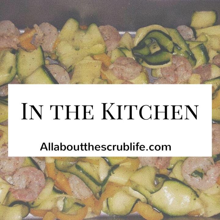 In The Kitchen: Zucchini Linguini with RoastedShrimp