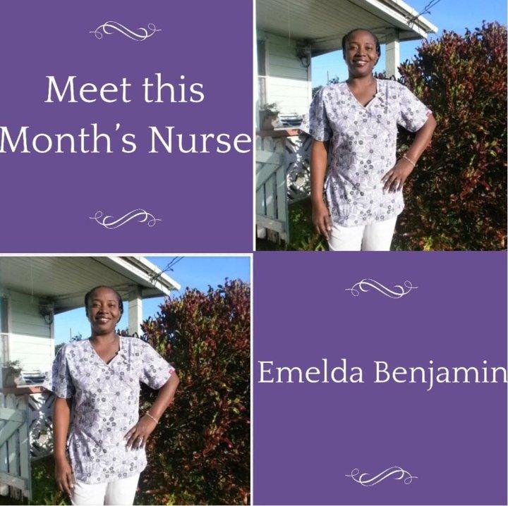 Nurse of The Month: EmeldaBenjamin