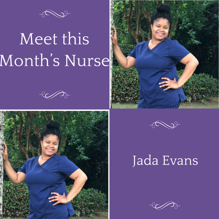 Nurse of The Month: Jada Evans